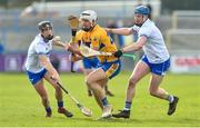 16 March 2019; Aron Shanagher of Clare in action against Colm Roche and Austin Gleeson of Waterford during the Allianz Hurling League Division 1 Quarter-Final match between Waterford and Clare at Walsh Park in Waterford. Photo by Matt Browne/Sportsfile