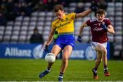 16 March 2019; Enda Smith of Roscommon in action against John Daly of Galway during the Allianz Football League Division 1 Round 6 match between Galway and Roscommon at Pearse Stadium in Salthill, Galway. Photo by Sam Barnes/Sportsfile