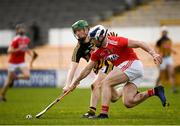 16 March 2019; Sean O'Donoghue of Cork in action against Ger Malone of Kilkenny  during the Allianz Hurling League Division 1 Relegation Play-Off match between Kilkenny and Cork at Nowlan Park in Kilkenny. Photo by Harry Murphy/Sportsfile