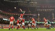16 March 2019; James Ryan of Ireland wins possession in the lineout from Adam Beard of Wales during the Guinness Six Nations Rugby Championship match between Wales and Ireland at the Principality Stadium in Cardiff, Wales. Photo by Ramsey Cardy/Sportsfile