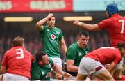 16 March 2019; Conor Murray of Ireland reacts after Ireland conceded a penalty during the Guinness Six Nations Rugby Championship match between Wales and Ireland at the Principality Stadium in Cardiff, Wales. Photo by Ramsey Cardy/Sportsfile
