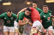 16 March 2019; James Ryan of Ireland is tackled by Alun Wyn Jones of Wales during the Guinness Six Nations Rugby Championship match between Wales and Ireland at the Principality Stadium in Cardiff, Wales. Photo by Ramsey Cardy/Sportsfile