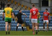16 March 2019; Mark Collins of Cork is shown a red card by referee David Gough during the Allianz Football League Division 2 Round 6 match between Cork and Donegal at Páirc Uí Rinn in Cork. Photo by Eóin Noonan/Sportsfile