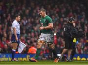 16 March 2019; Sean O'Brien of Ireland leaves the pitch after being substituted during the Guinness Six Nations Rugby Championship match between Wales and Ireland at the Principality Stadium in Cardiff, Wales. Photo by Brendan Moran/Sportsfile