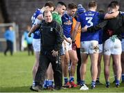 16 March 2019; Cavan manager Mickey Graham leaves the field after talking with his players after the Allianz Football League Division 1 Round 6 match between Monaghan and Cavan at St Tiernach's Park in Clones, Monaghan. Photo by Oliver McVeigh/Sportsfile