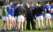 16 March 2019; Cavan manager Mickey Graham, centre, with his players after the Allianz Football League Division 1 Round 6 match between Monaghan and Cavan at St Tiernach's Park in Clones, Monaghan. Photo by Oliver McVeigh/Sportsfile