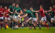 16 March 2019; Jonathan Sexton of Ireland attempts to gain possession during the Guinness Six Nations Rugby Championship match between Wales and Ireland at the Principality Stadium in Cardiff, Wales. Photo by Brendan Moran/Sportsfile