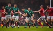 16 March 2019; Jonathan Sexton of Ireland loses possession of the ball during the Guinness Six Nations Rugby Championship match between Wales and Ireland at the Principality Stadium in Cardiff, Wales. Photo by Brendan Moran/Sportsfile