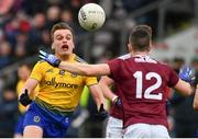 16 March 2019; Enda Smith of Roscommon in action against Johnny Heaney of Galway during the Allianz Football League Division 1 Round 6 match between Galway and Roscommon at Pearse Stadium in Salthill, Galway. Photo by Sam Barnes/Sportsfile