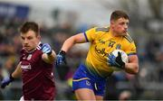 16 March 2019; Conor Cox of Roscommon in action against Eoghan Kerin of Galway during the Allianz Football League Division 1 Round 6 match between Galway and Roscommon at Pearse Stadium in Salthill, Galway. Photo by Sam Barnes/Sportsfile