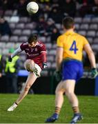 16 March 2019; Shane Walsh of Galway takes a free during the Allianz Football League Division 1 Round 6 match between Galway and Roscommon at Pearse Stadium in Salthill, Galway. Photo by Sam Barnes/Sportsfile