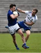 16 March 2019; Conor Moynagh of Cavan in action against Jack McCarron of Monaghan during the Allianz Football League Division 1 Round 6 match between Monaghan and Cavan at St Tiernach's Park in Clones, Monaghan. Photo by Oliver McVeigh/Sportsfile