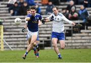16 March 2019; Conor Madden of Cavan in action against Conor Boyle of Monaghan during the Allianz Football League Division 1 Round 6 match between Monaghan and Cavan at St Tiernach's Park in Clones, Monaghan. Photo by Oliver McVeigh/Sportsfile