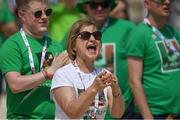 16 March 2019; Claire O'Keane, mother of Team Ireland's Michelle O'Keane, of Galway Kayaking Club SO, cheers from the river bank as her daugher wins the 200m Kayak on Day Two of the 2019 Special Olympics World Games at the Abu Dhabi Sailing and Yacht Club, Abu Dhabi, United Arab Emirates. Photo by Ray McManus/Sportsfile