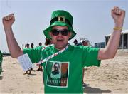 16 March 2019; Ian O'Callaghan, Swords, Co Dublin, cheers after Team Ireland's Deirdre O'Callaghan had competed in the Kayaking events on Day Two of the 2019 Special Olympics World Games in the Abu Dhabi Yacht and Sailing Club in Abu Dhabi, United Arab Emirates. Photo by Ray McManus/Sportsfile