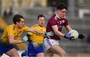 16 March 2019; Liam Boyle of Galway in action against David Murray of Roscommon during the Allianz Football League Division 1 Round 6 match between Galway and Roscommon at Pearse Stadium in Salthill, Galway. Photo by Sam Barnes/Sportsfile