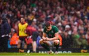 16 March 2019; Garry Ringrose of Ireland dejected at the final whistle of the Guinness Six Nations Rugby Championship match between Wales and Ireland at the Principality Stadium in Cardiff, Wales. Photo by Ramsey Cardy/Sportsfile