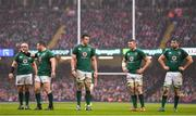 16 March 2019; Ireland players dejected during the Guinness Six Nations Rugby Championship match between Wales and Ireland at the Principality Stadium in Cardiff, Wales. Photo by Ramsey Cardy/Sportsfile