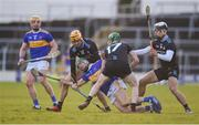 16 March 2019; Cathal Barrett of Tipperary in action against Dublin players, left to right, Éamonn Dillon, Fergal Whitely, and Liam Rushe, during the Allianz Hurling League Division 1 Quarter-Final match between Tipperary and Dublin at Semple Stadium in Thurles, Tipperary. Photo by Daire Brennan/Sportsfile