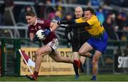 16 March 2019; Gary O'Donnell of Galway in action against Aonghus Lyons of Roscommon during the Allianz Football League Division 1 Round 6 match between Galway and Roscommon at Pearse Stadium in Salthill, Galway. Photo by Sam Barnes/Sportsfile
