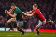 16 March 2019; Garry Ringrose of Ireland is tackled by Aled Davies of Wales during the Guinness Six Nations Rugby Championship match between Wales and Ireland at the Principality Stadium in Cardiff, Wales. Photo by Brendan Moran/Sportsfile