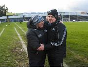 16 March 2019; Dublin manager Mattie Kenny celebrates with County Board Chairman Seán Shanley after the Allianz Hurling League Division 1 Quarter-Final match between Tipperary and Dublin at Semple Stadium in Thurles, Tipperary. Photo by Daire Brennan/Sportsfile