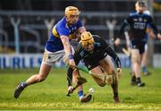 16 March 2019; Éamonn Dillon of Dublin in action against Ronan Maher of Tipperary during the Allianz Hurling League Division 1 Quarter-Final match between Tipperary and Dublin at Semple Stadium in Thurles, Tipperary. Photo by Daire Brennan/Sportsfile