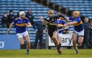16 March 2019; Éamonn Dillon of Dublin in action against Joe O'Dwyer, left, and Padraic Maher of Tipperary during the Allianz Hurling League Division 1 Quarter-Final match between Tipperary and Dublin at Semple Stadium in Thurles, Tipperary. Photo by Daire Brennan/Sportsfile