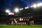 16 March 2019; The Tyrone team prior to the Allianz Football League Division 1 Round 6 match between Dublin and Tyrone at Croke Park in Dublin. Photo by David Fitzgerald/Sportsfile
