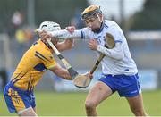 16 March 2019; Maurice Shanahan of Waterford in action against Patrick O'Connor of Clare during the Allianz Hurling League Division 1 Quarter-Final match between Waterford and Clare at Walsh Park in Waterford. Photo by Matt Browne/Sportsfile