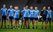 16 March 2019; Dublin players stand for the national anthem prior to the Allianz Football League Division 1 Round 6 match between Dublin and Tyrone at Croke Park in Dublin. Photo by David Fitzgerald/Sportsfile