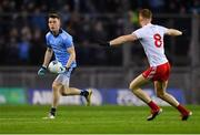 16 March 2019; Cian O'Connor of Dublin in action against Cathal McShane of Tyrone during the Allianz Football League Division 1 Round 6 match between Dublin and Tyrone at Croke Park in Dublin. Photo by Piaras Ó Mídheach/Sportsfile