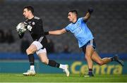 16 March 2019; Niall Morgan of Tyrone in action against Niall Scully of Dublin during the Allianz Football League Division 1 Round 6 match between Dublin and Tyrone at Croke Park in Dublin. Photo by David Fitzgerald/Sportsfile