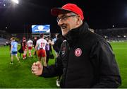 16 March 2019; Tyrone manager Mickey Harte celebrates following the Allianz Football League Division 1 Round 6 match between Dublin and Tyrone at Croke Park in Dublin. Photo by Piaras Ó Mídheach/Sportsfile