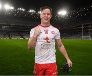 16 March 2019; Kieran McGeary of Tyrone celebrates following the Allianz Football League Division 1 Round 6 match between Dublin and Tyrone at Croke Park in Dublin. Photo by David Fitzgerald/Sportsfile