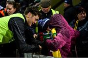 16 March 2019; David Clifford of Kerry signs an autograph for young supporters after the Allianz Football League Division 1 Round 6 match between Kerry and Mayo at Austin Stack Park in Tralee, Co. Kerry. Photo by Diarmuid Greene/Sportsfile