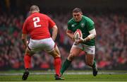 16 March 2019; Tadhg Furlong of Ireland in action against Ken Owens of Wales during the Guinness Six Nations Rugby Championship match between Wales and Ireland at the Principality Stadium in Cardiff, Wales. Photo by Ramsey Cardy/Sportsfile