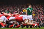 16 March 2019; Jacob Stockdale of Ireland during the Guinness Six Nations Rugby Championship match between Wales and Ireland at the Principality Stadium in Cardiff, Wales. Photo by Ramsey Cardy/Sportsfile