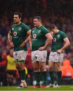 16 March 2019; Ireland players, from left, Quinn Roux, Dave Kilcoyne and Garry Ringrose dejected during the Guinness Six Nations Rugby Championship match between Wales and Ireland at the Principality Stadium in Cardiff, Wales. Photo by Ramsey Cardy/Sportsfile