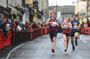17 March 2019; Runners, from left, Ken Whitelaw, Sinead Whitelaw and Joshua O'Brien during the Kia Race Series 1 – Streets of Portlaoise 5k in Portlaoise, Co Laois. Photo by David Fitzgerald/Sportsfile