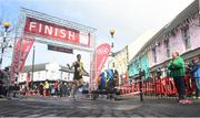 17 March 2019; Eoin Everard of Kilkenny City Harriers crosses the line to finish third in the Kia Race Series 1 – Streets of Portlaoise 5k in Portlaoise, Co Laois. Photo by David Fitzgerald/Sportsfile