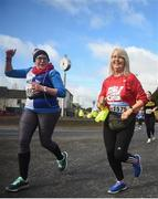 17 March 2019; Noleen Dempsey, left, and Brid Mullins during the Kia Race Series 1 – Streets of Portlaoise 5k in Portlaoise, Co Laois. Photo by David Fitzgerald/Sportsfile