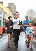 17 March 2019; Evelyn, left, and Aoilesnn Walsh during the Kia Race Series 1 – Streets of Portlaoise 5k in Portlaoise, Co Laois. Photo by David Fitzgerald/Sportsfile