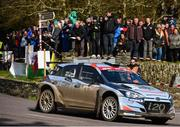 17 March 2019; Tom Cave and James Morgan in their Hyundai i20 R5 competing during day two of the 2019 Clonakilty Park Hotel Clonakilty West Cork Rally, round two of the Irish Tarmac Rally Championship at Special Stage 13 in Clonakilty, Co. Cork. Photo by Philip Fitzpatrick/Sportsfile