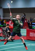17 March 2019; Team Ireland's Sarah-Louise Rea, a member of Lisburn 2gether SOC, from Lisburn, Co. Antrim, during her 2-0 win over Zhi Ching of SO Singapore in her Singles Round One game on Day Three of the 2019 Special Olympics World Games in the Abu Dhabi National Exhibition Centre, Abu Dhabi, United Arab Emirates. Photo by Ray McManus/Sportsfile