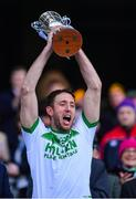 17 March 2019; Michael Fennelly of Ballyhale Shamrocks lifts The Tommy Moore Cup following the AIB GAA Hurling All-Ireland Senior Club Championship Final match between Ballyhale Shamrocks and St Thomas at Croke Park in Dublin. Photo by Piaras Ó Mídheach/Sportsfile