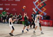 17 March 2019; Team Ireland's Stephen Murphy, a member of the Palmerstown Wildcats Special Olympics Club, from Lucan, Co. Dublin, in the SO Ireland v SO France Basketball game on Day Three of the 2019 Special Olympics World Games in the Abu Dhabi National Exhibition Centre, Abu Dhabi, United Arab Emirates. Photo by Ray McManus/Sportsfile