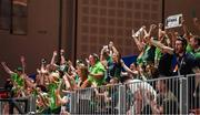 17 March 2019; Team Ireland supporters during the SO Ireland v SO France Basketball game on Day Three of the 2019 Special Olympics World Games in the Abu Dhabi National Exhibition Centre, Abu Dhabi, United Arab Emirates. Photo by Ray McManus/Sportsfile