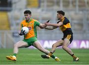 17 March 2019; Colin Brady of Corofin in action against Micheál Burns of Dr. Crokes' during the AIB GAA Football All-Ireland Senior Club Championship Final match between Corofin and Dr Crokes at Croke Park in Dublin. Photo by Harry Murphy/Sportsfile