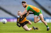 17 March 2019; Micheál Lundy of Corofin clears the ball away from Colm Cooper of Dr. Crokes' during the AIB GAA Football All-Ireland Senior Club Championship Final match between Corofin and Dr Crokes' at Croke Park in Dublin. Photo by Piaras Ó Mídheach/Sportsfile